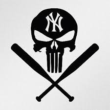 Punisher New York Yankees Baseball Bats Car Laptop Motorbike Vinyl Decal Sticker In 2020 Punisher New York Yankees New York Yankees Baseball