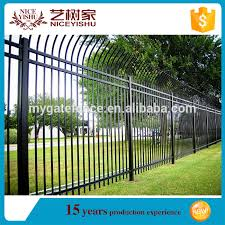 Yishu Metal Product Used Wrought Iron Fence Garden Fene Black Square Steel Fence Posts Buy Wrought Iron Fence Square Steel Fence Posts Garden Fence Product On Alibaba Com