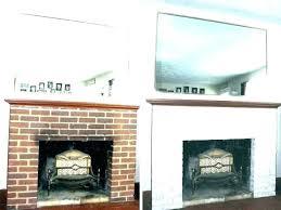 whitewashing brick fireplace surround