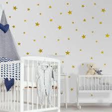 Metallic Gold Little Stars Wall Decal Sticker Wall Decals Wallmur