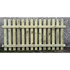 F G Supplies 90cm 3ft Tall X 1 8m 6ft Picket Garden Fence Panel Hand Built Treated Wood Amazon Co Uk Garden Outdoors