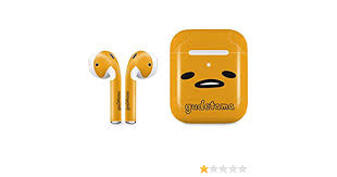 Amazon Com Skinit Decal Audio Skin Compatible With Apple Airpods With Wireless Charging Case Officially Licensed Sanrio Gudetama Up Close Design