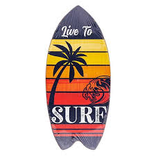 live to surf mini surfboard sign home