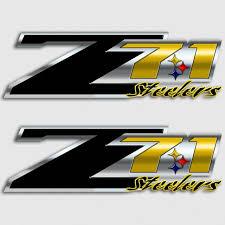 Steelers Z71 Truck Decals 4x4 Chevy Silverado Pittsburgh Sticker