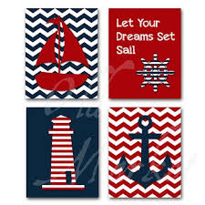 Nautical Art Let Your Dreams Set Sail Printable Wall Art Includes 4 Images