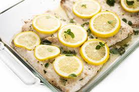 Lemon Butter Baked White Fish - The ...
