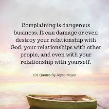 complaining can damage or even destroy your relationship god