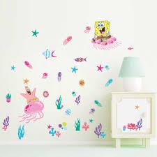Girl Diy Gift Spongebob Squarepants Coral Kids Wall Stickers Vinyl Decal Nursery Decor Gift 026 Wall Stickers Aliexpress