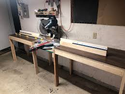 Miter Saw Table W Extended Clamping Fence Woodworking