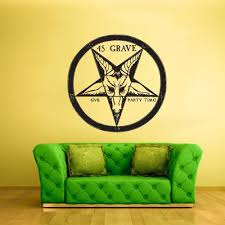 Wall Decal Decal Sticker Evil Party Time 45 Grave Circle Ethnic Z2196 Stickersforlife