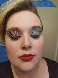 neon print makeup ccw al