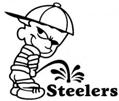 Pee On Steelers Car Or Truck Window Decal Sticker Or Wall Art All Time Auto Graphics