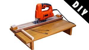 Jigsaw Cutting Station Homemade Diy Jigsaw Guide Youtube