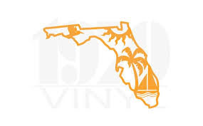 Florida Sunshine Vinyl Decal Window Decal Boat Decal Etsy