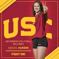 """USC Women's Volleyball on Twitter: """"📂 ABIGAIL HANSEN // 6-4 MB CROUCH  QUOTE: """"Abby attacks well off either one foot or two, behind and in front,  in serve receive and in transition."""