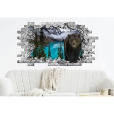 Shop Bear Hole In The Decals Woodland Nature Vinyl Sticker Murals Overstock 31607700