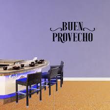 Buen Provecho Vinyl Wall Decal Quote Spanish Bon Appetit Kitchen Cooking Decor Dining Room Family Food Art Sticker Xj542 Walmart Com Walmart Com