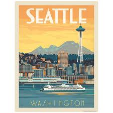 Seattle Washington Decal At Retro Planet