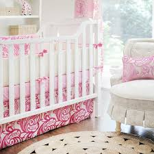 hot pink damask baby bedding