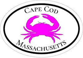 Wickedgoodz Oval Pink Crab Cape Cod Vinyl Decal Beach Bumper Sticker Perfect Mass Vacation Gift Wickedgoodz