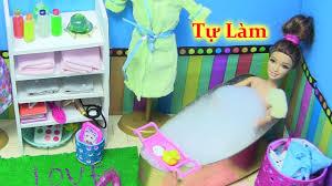 Tự Làm 10 Vật Dụng Cho Phòng Tắm Búp Bê : Chai Dầu Gội, Bồn Tắm ...