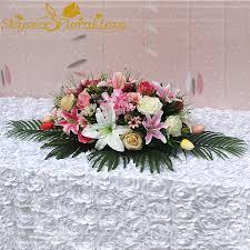 بوكيه ورد صناعي زنبق اجتماع غرفة المنزل الديكور الزهور فندق الحدث
