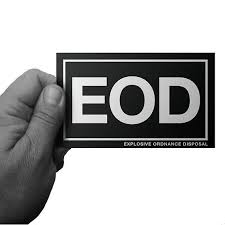 Eod Explosive Ordnance Disposal Window Decal Vinyl Window Decals Military Stickers Bumper Stickers