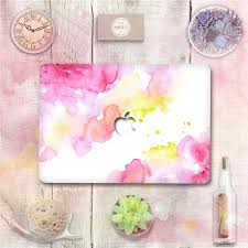 Pink Coral Watercolor Vinyl Top Front Decal Laptop Skin For Apple Macbook Air Pro Retina 11 12 13 15 Protective Sticker Laptop Skin Cover Laptop Skins Acer Aspire Oneskin Laptop Aliexpress