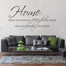 Home Quote Wall Decal Home Friends Family Wall Vinyl Etsy