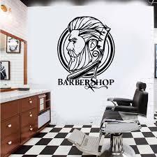 Large Barber Shop Hipster Window Wall Sticker Barber Shop Hairdress Hair Salon Glass Wall Decal Decor Vinyl Wall Stickers Aliexpress
