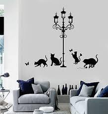 Vinyl Wall Decal Street Light Cats House Interior Room Art Stickers Ig4040 Ebay