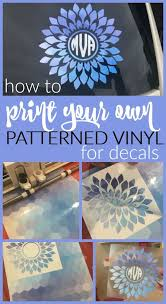 Diy Vinyl Printing With Inkjet Printable Vinyl Sheets Silhouette School