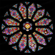 Rose Window Ceramic Decals 750 850ºc Fusible Transfers Etsy