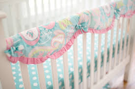 paisley crib bedding pink and aqua my