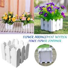 Flower Box With Foam Wooden Fence 10cm Flower Arrangement Flower Basket Photography Prop Shopee Philippines