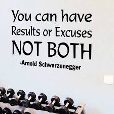 Winston Porter You Can Have Results Or Excuses Not Both Arnold Schwarzenegger Quotes Wall Decal Reviews Wayfair
