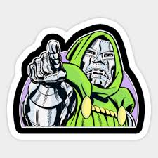 Doctor Doom Stickers Teepublic