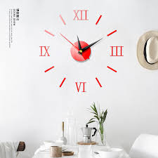 Hot Us Diy 3d Mirror Surface Large Number Wall Clock Sticker Modern Home Decor