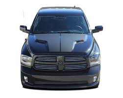 Ram Hemi Hood 2009 2015 2016 2017 2018 Dodge Ram Vinyl Graphics Accent Decal Stripe Kit Moproauto Professional Vinyl Graphics And Striping