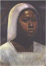 Virgin, painting by Thelma Johnson Streat (Reed College collection ...