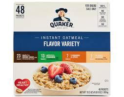 quaker instant oatmeal 48 ct maple