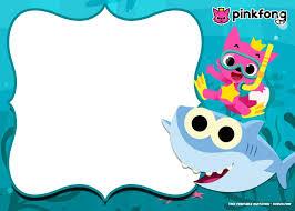 Fiesta De Baby Shark Invitaciones Para Imprimir Gratis Oh My Bebe