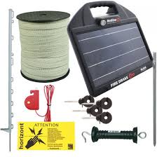 Uk Countrystore 12v Solar Powered Electric Horse Fence Kit Firedrake 34 67