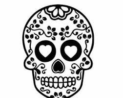 Sugar Skull Decals For Cars And Homes Sugar Skull Decor Dia De Muertos Decor Sugar Skull Decals Sugar Skull Skull Decal Sugar Skull Halloween Skull Stencil
