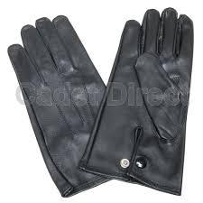 mod officers black leather gloves