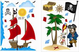 Kids Large Pirate Wall Decals Stickers Nursery Boy Room Ebay