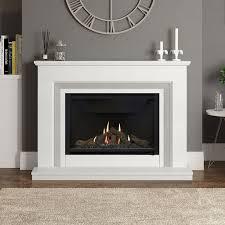 wall pre cast flue gas fireplace
