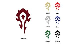 World Of Warcraft Horde Logo Vinyl Decal Vinyl Decals World Of Warcraft Warcraft