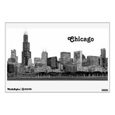 Chicago Wall Decals Stickers Zazzle