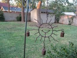 wind chimes sun solar garden art